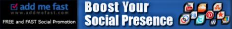 AddMeFast.com - 100% FREE Social Media Marketing/Promotion!