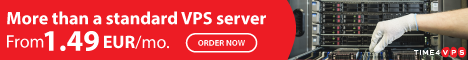Cheap VPS hosting - Tier III DC | 99.98% uptime - Time4VPS